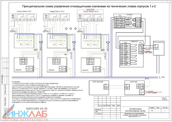 Принципиальная схема управления клапанами